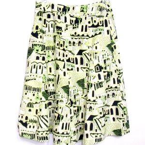 Jones New York A-Line Skirt NWT Size 2P Green
